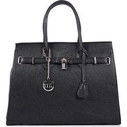 Torebki klasyczne damskie: Skórzana torebka w kolorze czarnym – 38 x 29 x 13,5 cm