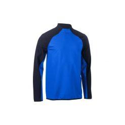 Bluza do rugby na trening R500. Czarne bluzy męskie rozpinane marki KIPSTA, z poliesteru, do piłki nożnej. Za 149,99 zł.