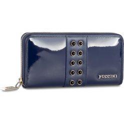Duży Portfel Damski PUCCINI - BS2705 Blue 7. Niebieskie portfele damskie Puccini, z lakierowanej skóry. Za 159,00 zł.