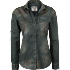 Brandit Denimshirt Bluzka damska niebieski/czarny. Czarne bluzki koszulowe Brandit, xl, vintage, z długim rękawem. Za 94,90 zł.