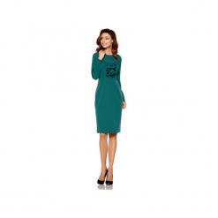 Sukienka biznesowa z żabotem L270. Zielone długie sukienki Lemoniade, do pracy, l, biznesowe, z klasycznym kołnierzykiem, z długim rękawem. Za 179,90 zł.