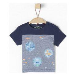 S.Oliver T-Shirt Chłopięcy 62, Niebieski. Niebieskie t-shirty chłopięce z krótkim rękawem S.Oliver, w kolorowe wzory, z bawełny. Za 40,00 zł.