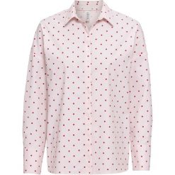 Bluzka w kropki bonprix pastelowy jasnoróżowy - czerwony w kropki. Niebieskie bluzki z odkrytymi ramionami marki bonprix. Za 89,99 zł.