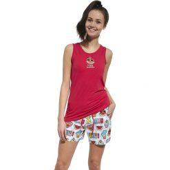 Dziewczęca piżama Happy. Czerwone bielizna chłopięca marki Astratex, w koronkowe wzory, z wiskozy. Za 66,99 zł.