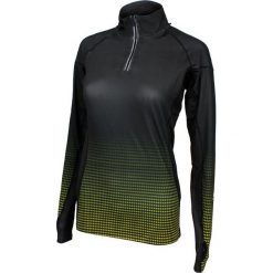 Bluzy damskie: Rucanor Bluza damska Mette long sleeve czarno-zielona r. L (29661-227)