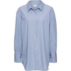 Koszule wiązane damskie: Koszula z dużymi mankietami, oversize bonprix biało-jasnoniebieski w paski