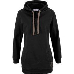 Długa bluza, długi rękaw bonprix czarny. Czarne bluzy rozpinane damskie bonprix, z nadrukiem, z długim rękawem, długie. Za 74,99 zł.