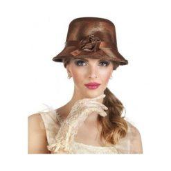 Kapelusz damski Charlestone Lady - miedziany. Brązowe kapelusze damskie marki ASTER. Za 42,07 zł.