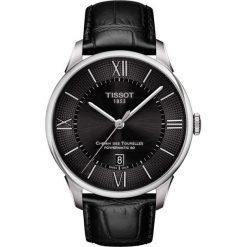 PROMOCJA ZEGAREK TISSOT Chemin Des Tourelles Powermatic 80 T099.407. Czarne zegarki męskie TISSOT, ze stali. W wyprzedaży za 2816,00 zł.