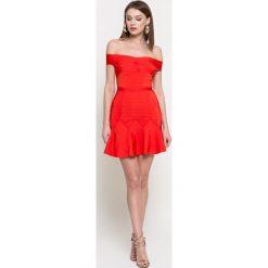 Missguided - Sukienka. Szare sukienki mini marki Missguided, na co dzień, s, z elastanu, casualowe, dopasowane. W wyprzedaży za 149,90 zł.
