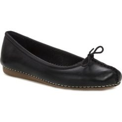 Baleriny damskie: Baleriny CLARKS – Freckle Ice 203529294 Black Leather