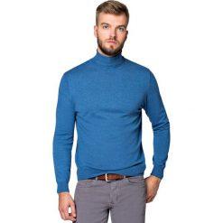 Golf J.Niebieski Sterling. Niebieskie kardigany męskie marki LANCERTO, m, z bawełny. Za 199,90 zł.