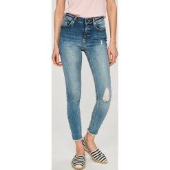 Only - Jeansy Blush. Szare jeansy damskie marki ONLY, s, z bawełny, casualowe, z okrągłym kołnierzem. W wyprzedaży za 129,90 zł.