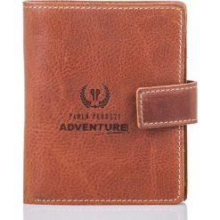 Brązowy portfel męski Paolo Peruzzi SLIM 910-PP. Brązowe portfele męskie Pakamera, z materiału. Za 99,00 zł.