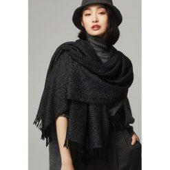Szaliki damskie: Szal w kolorze czarnym - (D)192 x (S)70 cm