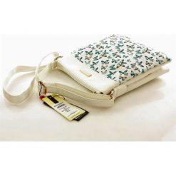 Wyjątkowa torebka listonoszka w motylki biel ALEXIS. Białe listonoszki damskie Monnari, w paski. Za 129,00 zł.