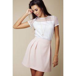 Spódniczki: Różowa Pastelowa Rozkloszowana Spódnica Mini