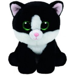 Przytulanki i maskotki: TY Maskotka Beanie Babies Ava – Czarno-Biały Kot, 24 Cm