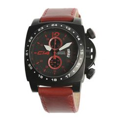 """Zegarki męskie: Zegarek """"A1.2"""" w kolorze czerwono-czarnym"""