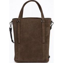 """Torebki i plecaki damskie: Skórzany shopper bag """"FortyFour"""" w kolorze ciemnobrązowym – 38 x 40 x 12,5 cm"""