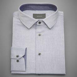 Koszula regular fit - Granatowy. Niebieskie koszule męskie marki QUECHUA, m, z elastanu. W wyprzedaży za 49,99 zł.
