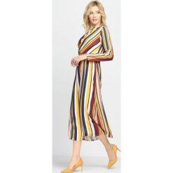 Sukienki: Żółto-Bordowa Sukienka Pretty Girls