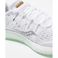 Saucony LIBERTY ISO Obuwie do biegania Stabilność white. Białe buty do biegania damskie Saucony, z materiału. Za 719,00 zł.