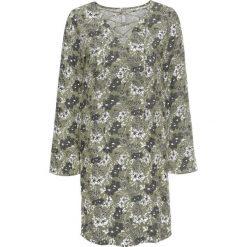 Sukienki: Sukienka ze sznurowaniem bonprix oliwkowy wzorzysty