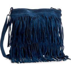 Torebka CREOLE - RBI10156 Granatowy. Niebieskie listonoszki damskie Creole, ze skóry, na ramię. Za 109,00 zł.