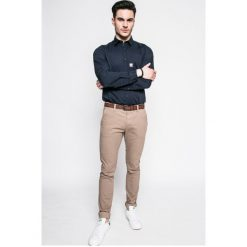 S. Oliver - Koszula. Szare koszule męskie na spinki marki S.Oliver, l, z bawełny, z włoskim kołnierzykiem, z długim rękawem. W wyprzedaży za 99,90 zł.