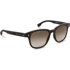 Okulary przeciwsłoneczne BOSS - 0956/S Dark Havana 086. Brązowe okulary przeciwsłoneczne damskie aviatory Boss. W wyprzedaży za 519,00 zł.