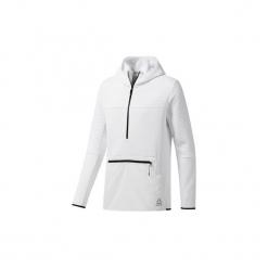 Polary Reebok Sport  Bluza z kapturem ThermoWarm Control. Białe bluzy męskie rozpinane Reebok Sport, l, z kapturem. Za 399,00 zł.