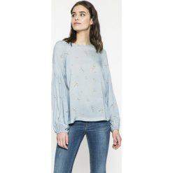 Answear - Bluzka Wild Nature. Szare bluzki nietoperze ANSWEAR, l, z tkaniny, casualowe, z okrągłym kołnierzem. W wyprzedaży za 59,90 zł.