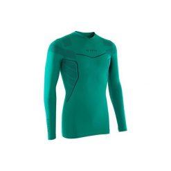 Podkoszulek do piłki nożnej długi rękaw Keepdry 500. Czarne odzież termoaktywna męska marki B'TWIN, m, z elastanu, z długim rękawem. Za 49,99 zł.