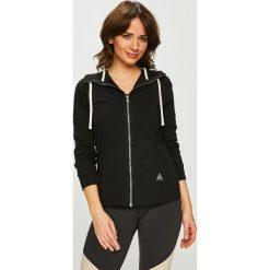 Reebok - Bluza. Czarne bluzy z kapturem damskie marki Reebok, l, z bawełny. Za 229,90 zł.