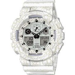 Zegarek Casio Męski GA-100CG-7AER G-Shock Cracked biały. Białe zegarki męskie CASIO. Za 379,00 zł.