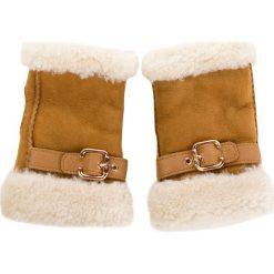 Rękawiczki Damskie UGG - W Fingerless Glove W/Belt 17377 Chestnut. Brązowe rękawiczki damskie Ugg, ze skóry. Za 639,00 zł.