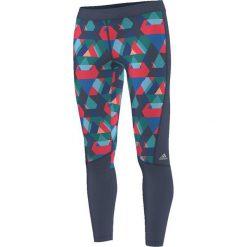 Adidas Legginsy Techfit Typo Print granatowe XS (AJ0536). Szare legginsy sportowe damskie marki Adidas, xs. Za 111,54 zł.