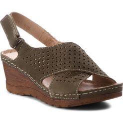 Sandały damskie: Sandały POLLONUS - 5-0931-005 Zielony Samuel