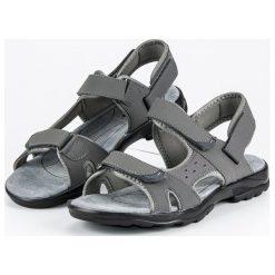 HASBY sandały zapinane na rzepy odcienie szarości i srebra. Szare sandały męskie HASBY, na rzepy. Za 99,90 zł.