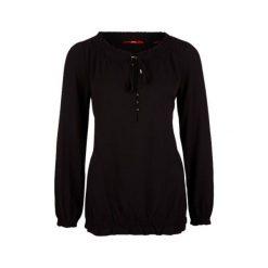 S.Oliver Bluzka Damska 42 Czarna. Czarne bluzki nietoperze marki S.Oliver, s, klasyczne, z klasycznym kołnierzykiem. W wyprzedaży za 116,00 zł.