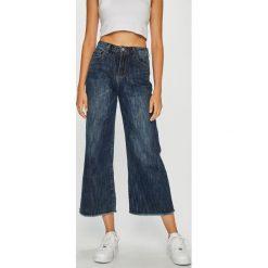 Answear - Jeansy. Niebieskie jeansy damskie z wysokim stanem marki ANSWEAR. W wyprzedaży za 99,90 zł.