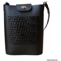 SIMPLICITY SHOPPER black&croco. Szare shopper bag damskie marki Natec, z poliesteru. Za 199,00 zł.