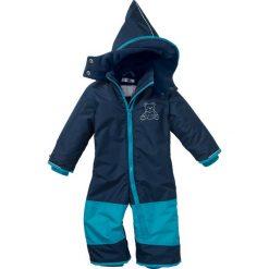 Kombinezony niemowlęce: Kombinezon zimowy niemowlęcy bonprix ciemnoniebiesko-ciemnoturkusowy