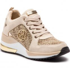 Sneakersy GUESS - FL5JA3 FAL12 BEIBR. Brązowe sneakersy damskie marki Guess, z materiału. Za 629,00 zł.