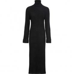 Sukienka dzianinowa z golfem bonprix czarny. Czarne sukienki dzianinowe marki bonprix, z golfem. Za 109,99 zł.