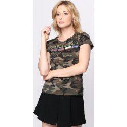 T-shirty damskie: Ciemnozielony T-shirt Warrior Woman