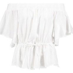 Bluzki asymetryczne: Abercrombie & Fitch Bluzka white