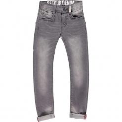 Dżinsy - Slim fit - w kolorze szarym. Szare spodnie chłopięce marki Retour Denim de Luxe, w paski. W wyprzedaży za 115,95 zł.