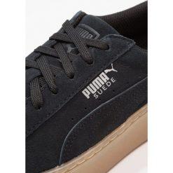 Puma PLATFORM JEWEL Tenisówki i Trampki black. Czerwone trampki chłopięce marki Puma, z materiału, na sznurówki. Za 339,00 zł.